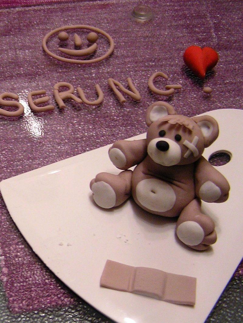 teddybär aus fondant modellieren - olga kocht und backt