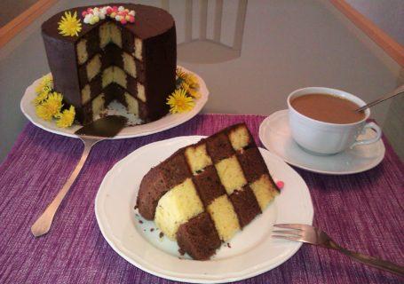 Schachbrett-Torte Rezept