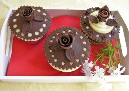 Schokocupcakes mit Frischkäsecreme