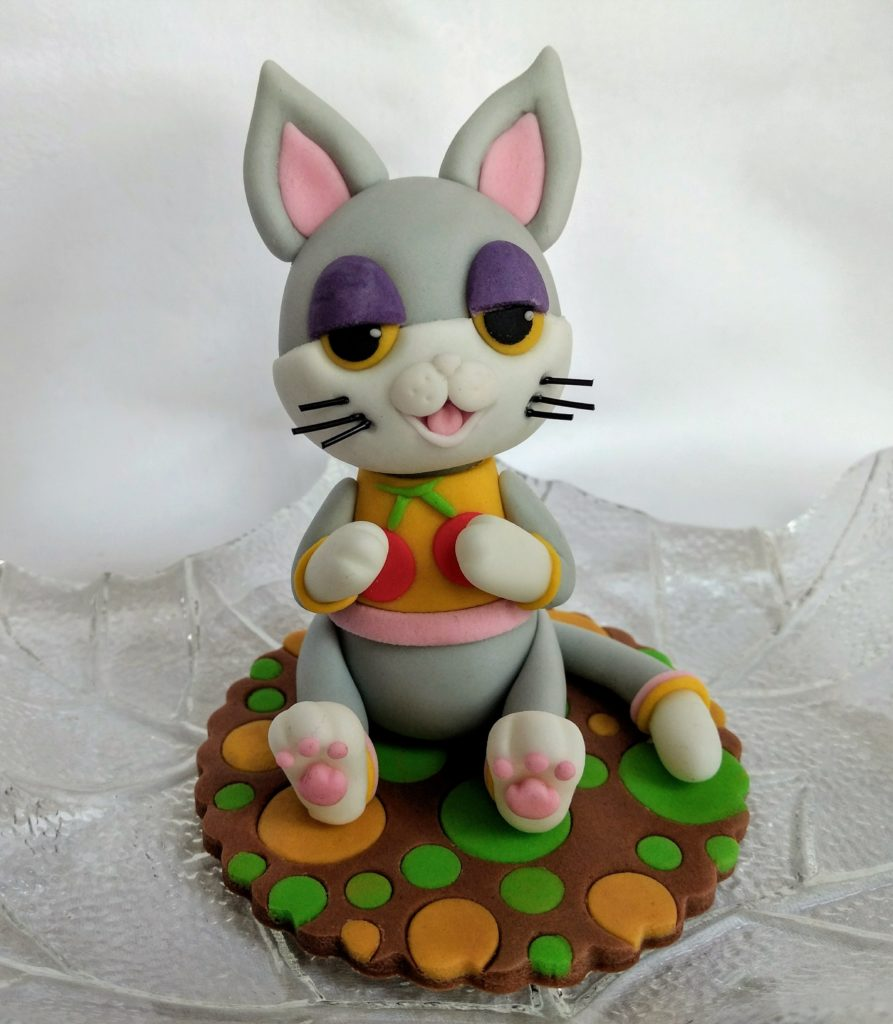 Animal Crossing Fondant Figur Katze Tortenfigur