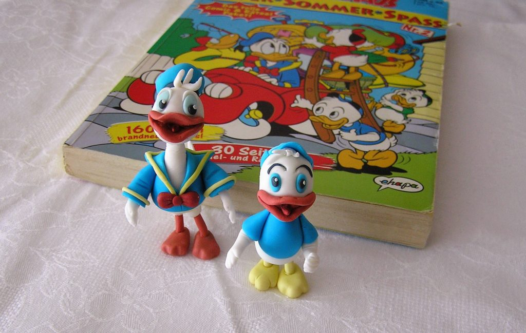 Fondant Figuren Donald und Trick von Entenhausen