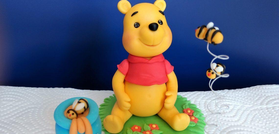 Winnie Puuh, Bär, Fondant Figur, Zucker Figur Dekoration