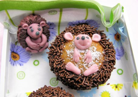 Igel Cupcake mit Schokoladencreme