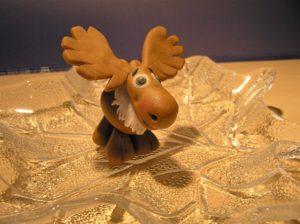 Fondant Elch für eine Weihnachtstorte