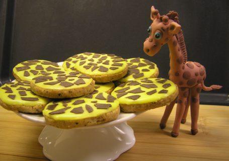 Giraffenkekse mit Glasur