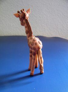 Fondant Giraffe von hinten