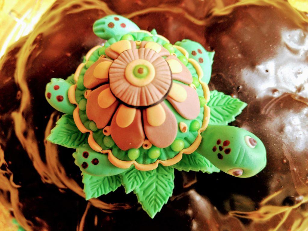 Schildkröte aus Fondant Tortendeko