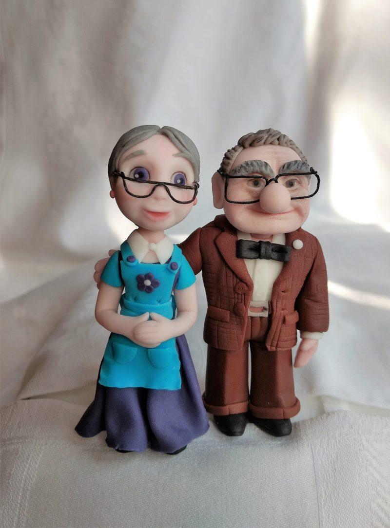 Carl Und Ellie Fredricksen Figuren Fondannt Tortendeko Altes Ehepaar