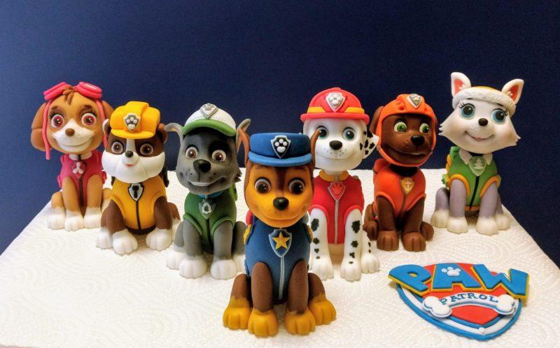 Torten Figuren aus Fondant Hunde Paw Patrol SErie
