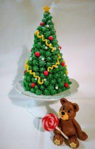 Weihnachtstorte mit Teddy