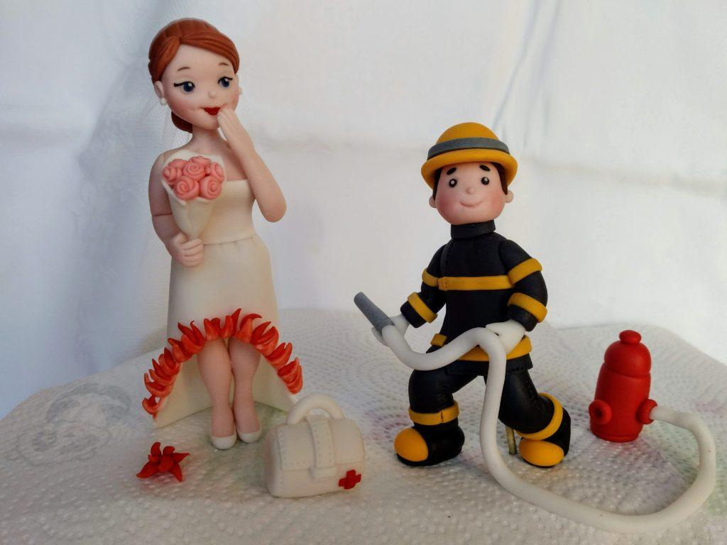 Feuerwehr Tortenfiguren Hochzeitstorte