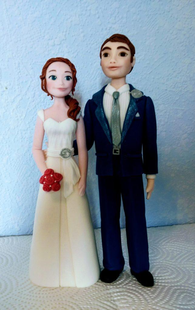 Tortenfiguren brautpaar Hochzeitstorte Fondant
