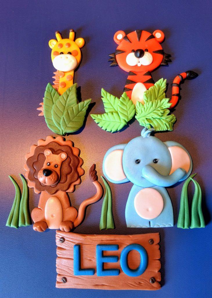 Tortenfiguren aus Fondant Tiere des Dschungels