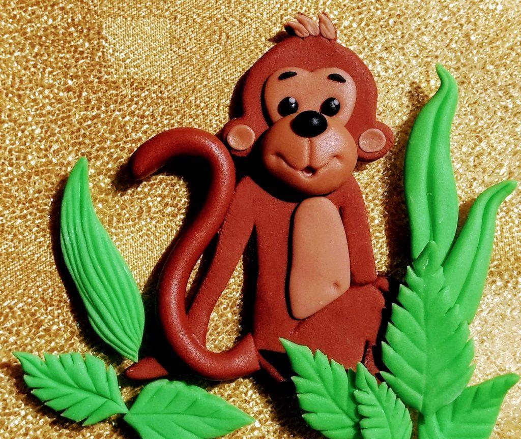 Affe Tortenfigur aus Fondant Dschungel Tiere