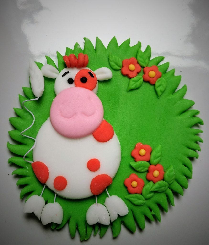 Kuh, Bauernhof Tiere Figur Zucker Fondant