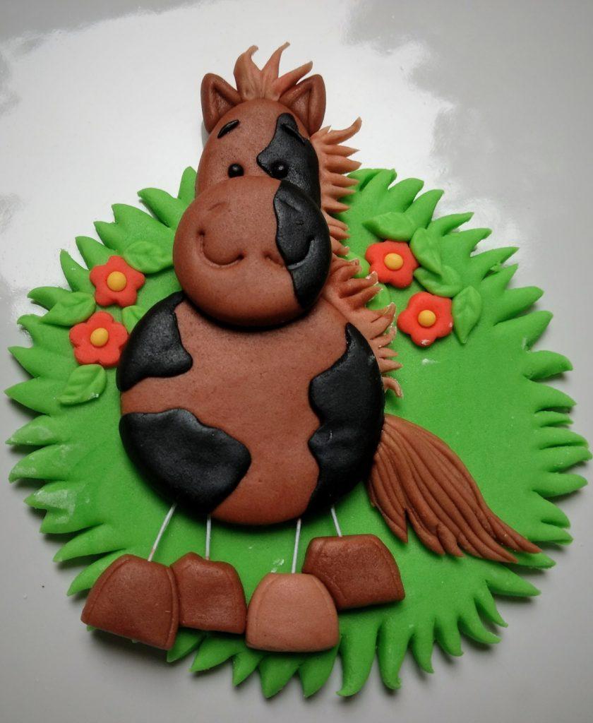 Pferd, Fondantfigur, Tortendeko Bauernhof