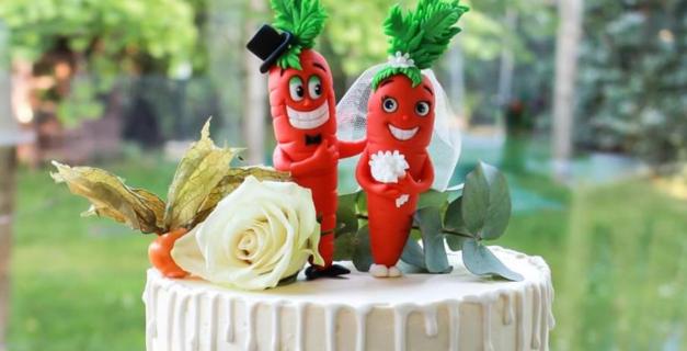 Hochzeitsfiguren Tortendeko, Brautpaar Figuren Fondant