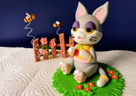 Animal Crossing Figur Katze Julian aus Fondant zur Tortendekorationn