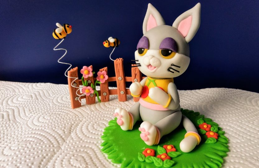 Animal Crossing Figur Katze Julian aus Fondant zur Tortendekorationn