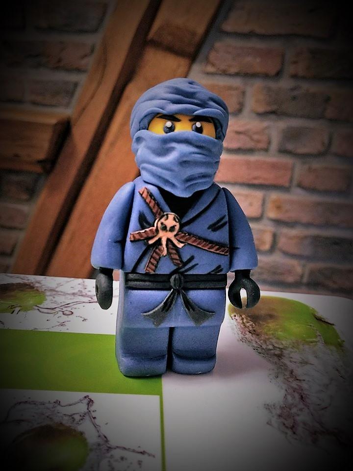 Lego Ninjago blauer Ninja Fondant Figur Tortendeko