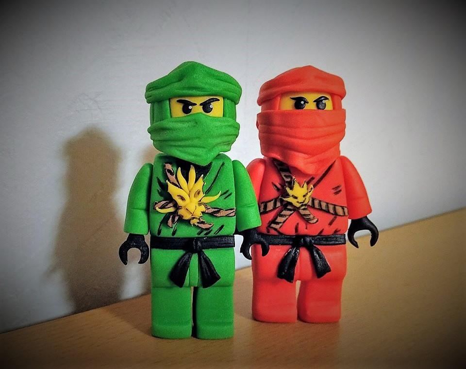 Lego Ninjago Kai und Lloyd Fondant Tortenfiguren