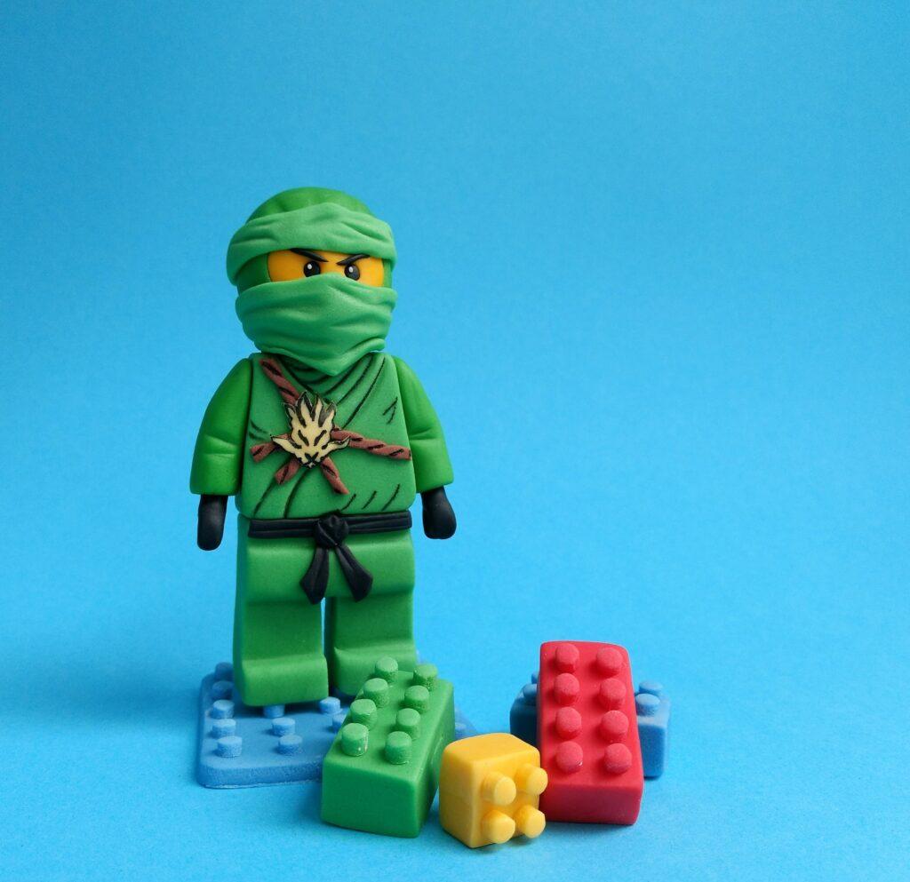 Ninja Tortenfigur Fondant Lego