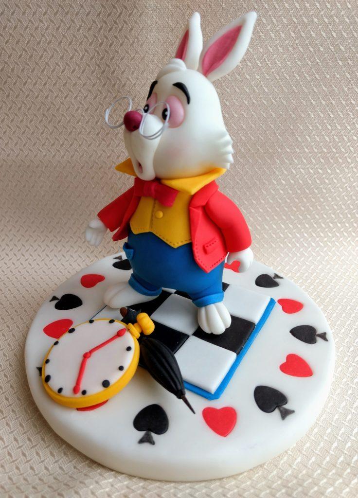 Alice in Wonderland The white Rabbit Fondant