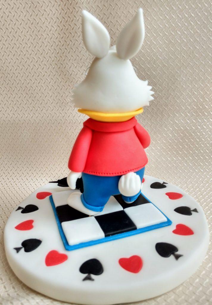 Das weiße Kaninche Foto von hinten, Figur