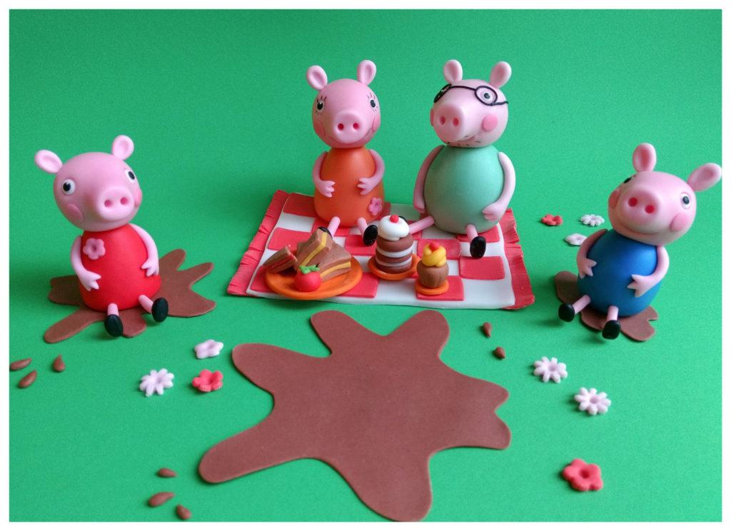 Peppa Wutz und Familie beim Picknick, Tortenfiguren