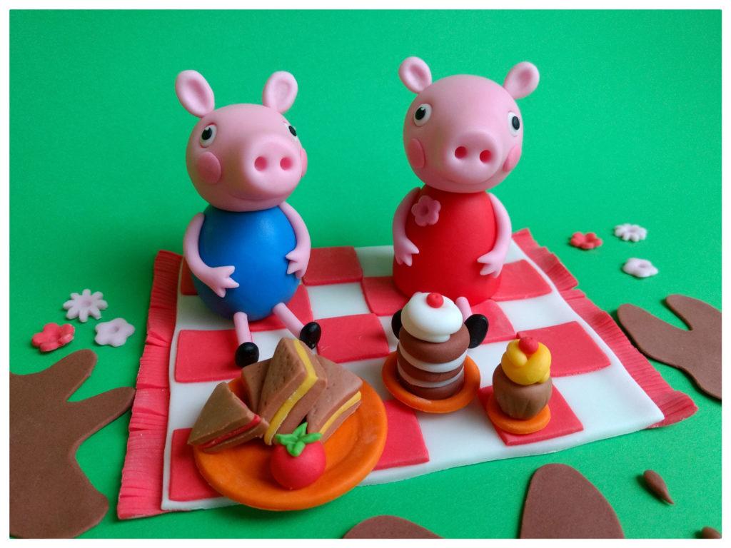 George und Peppa Wutz beim Picknick Figuren