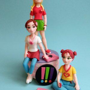 Mädchen Teenager Tortenfiguren zum Buch Die drei !!!